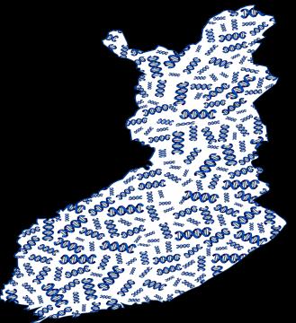 Finnland-Karte mit Genen