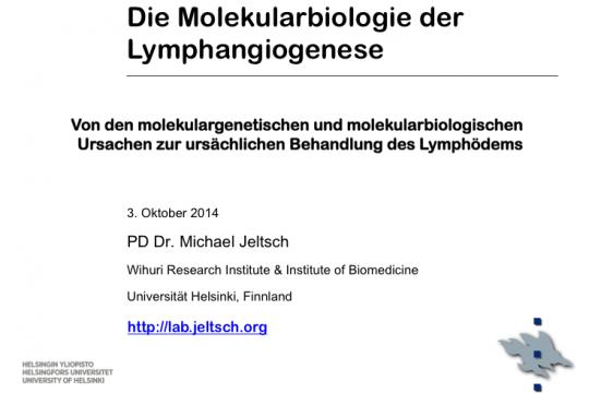 Die Molekularbiologie der Lymphangiogenese