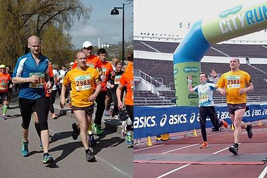 Michael Jeltsch running the Helsinki City Run