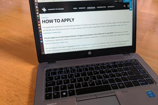 How to apply to the University of Helsinki