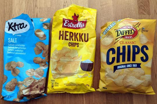 Potato chip blind tasting