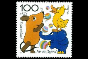 """Briefmarke """"Die Sendung mit der Maus"""""""