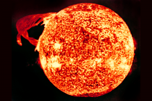 Solar flare as seen from Skylab in 1972