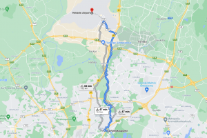 Bicycle route to the Helsinki-Vantaa airport