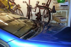 Car and bicycles